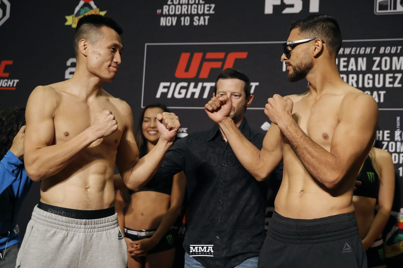 The Korean Zombie and Yair Rodriguez will clash in the UFC Denver main event Saturday.