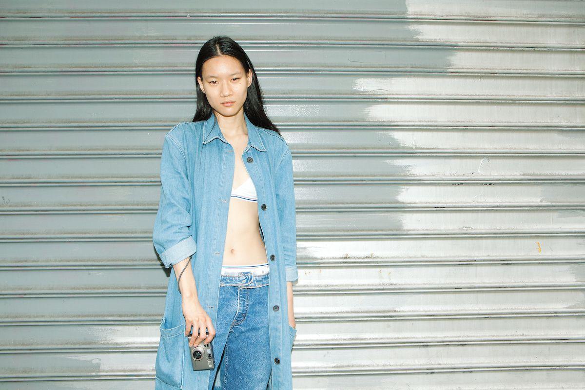A model in Jonesy underwear and denim