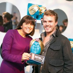 Alison Levy from Shopping Site of the Year Net-a-Porter with Mr PORTERS Michael Krueger