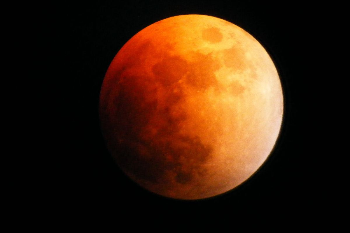"""A 2008 """"blood moon,"""" caused by a lunar eclipse."""