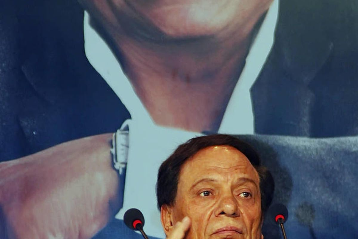 In this Tuesday, Oct. 6, 2009 photo, Egyptian film actor and comedian Adel Imam pauses during a press conference in Cairo, Egypt. A judge says a well known Egyptian comedian and film star has been sentenced to three months in jail for offending Muslims. T