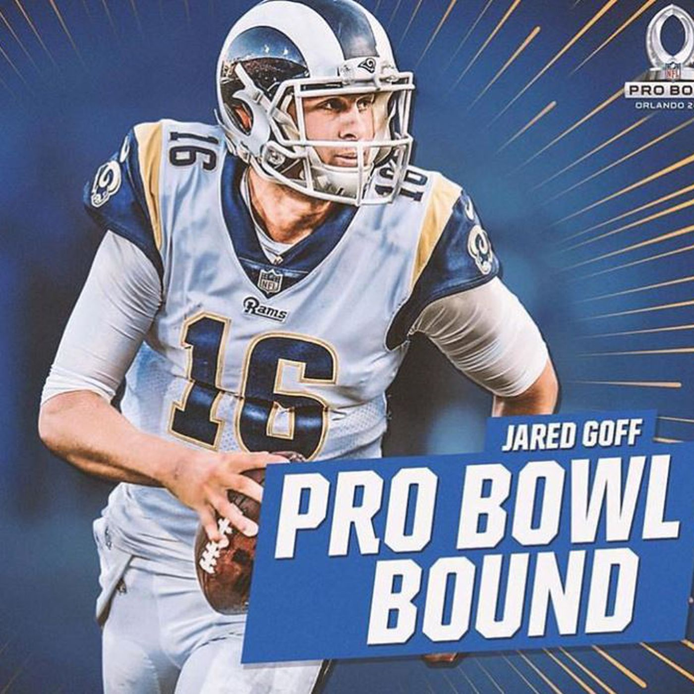 huge selection of 5e466 5ace6 Los Angeles Rams QB Jared Goff selected for Pro Bowl - Turf ...