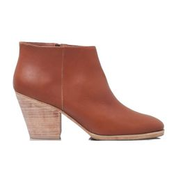 """<b>Rachel Comey</b> Mars bootie in whiskey, <a href=""""http://www.rachelcomey.com/womens-store/shoes/boots/mars-104.html?color=Tusk&size=10"""">$403</a>"""