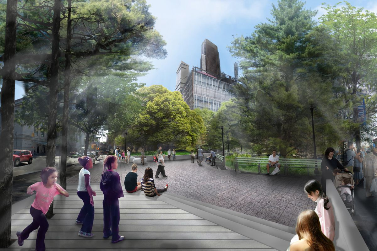 Nyc Subway Map Bam Park.Revamp Of Fort Greene S Bam Park Is Finally Underway Curbed Ny