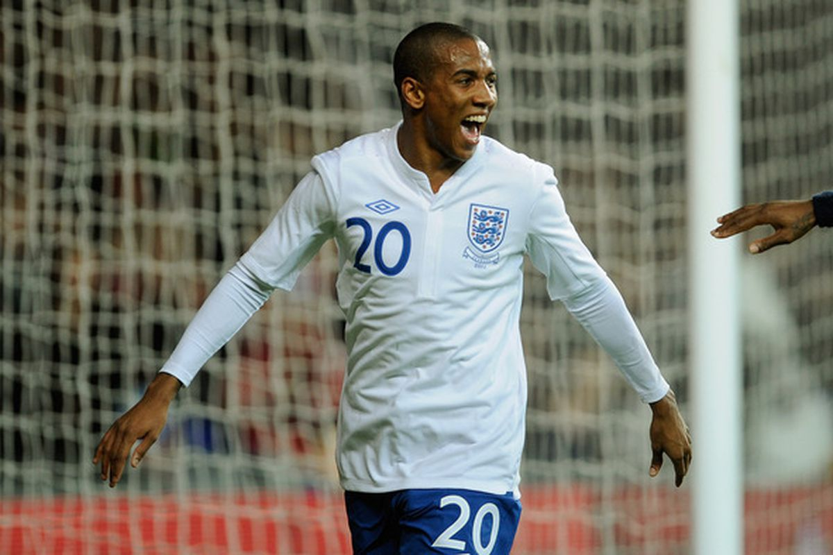 Ashley Young scores the winning goal for England in the Three Lions' 2-1 victory over Denmark. Or, as we like to call it, Aston Villa's first win over Denmark.  (Photo by Michael Regan/Getty Images)