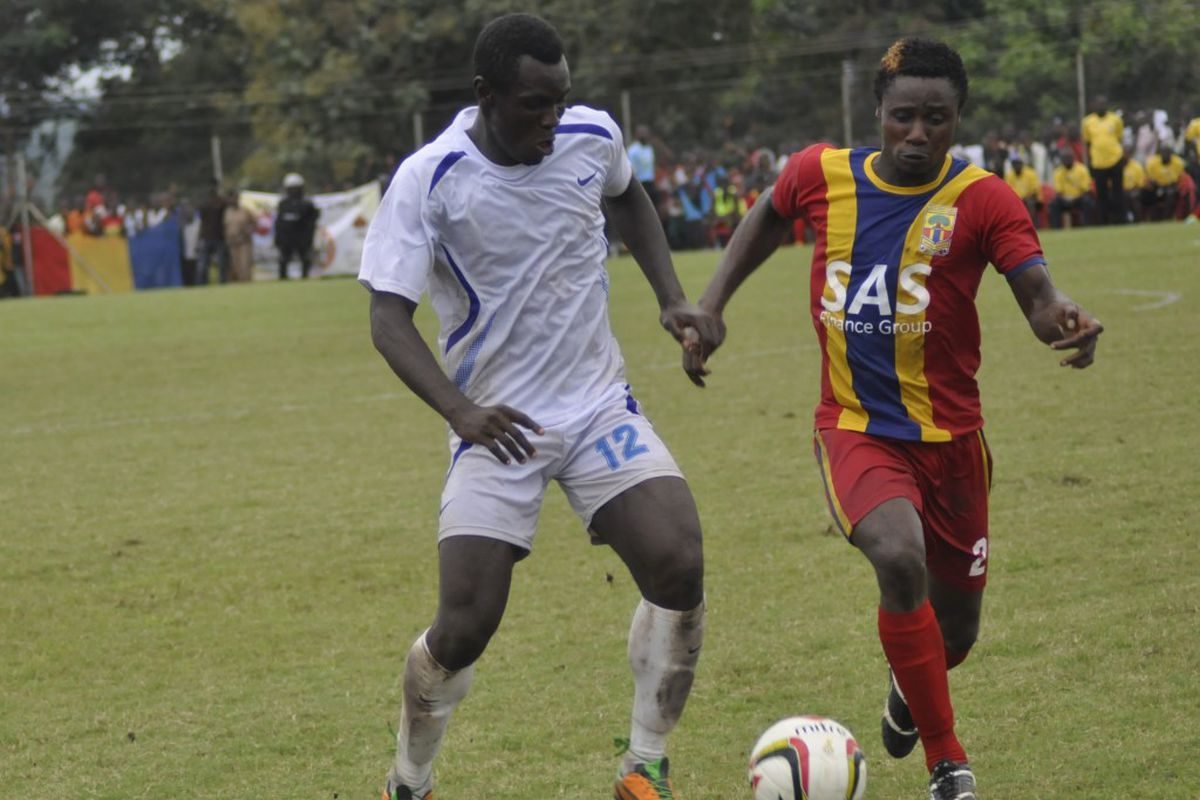 Dadzie, left, against Hearts of Oak in October