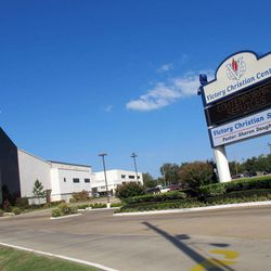 Victory Christian Center is shown on Wednesday, Sept. 19, 2012 in Tulsa, Okla. Five employees at the center face criminal charges for waiting more than two weeks to report the alleged rape of a 13-year-old girl on the south Tulsa campus.