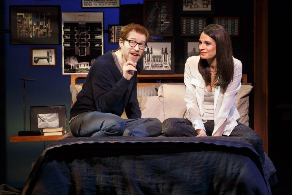 """Anthony Rapp and Jackie Burns in the musical """"If/Then,"""" now at Chicago's Oriental Theatre. (Photo: Joan Marcus)"""