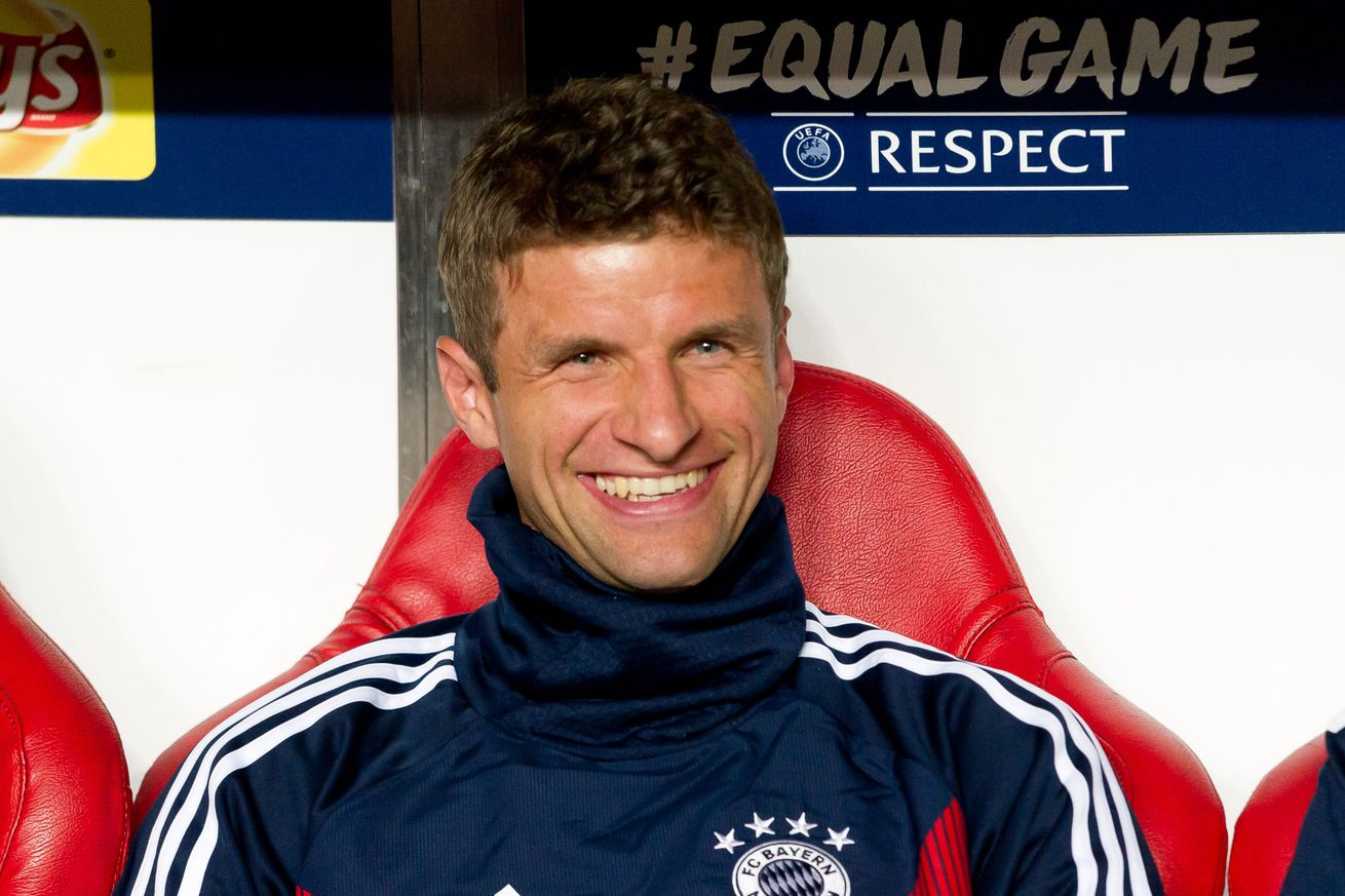 Thomas Müller grabbed his 100th UCL cap on Wednesday