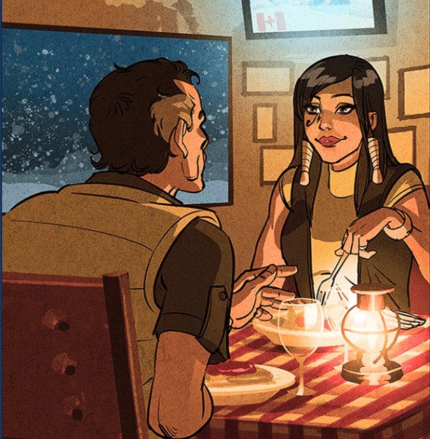 Looks like Pharah spent Christmas with her old man.