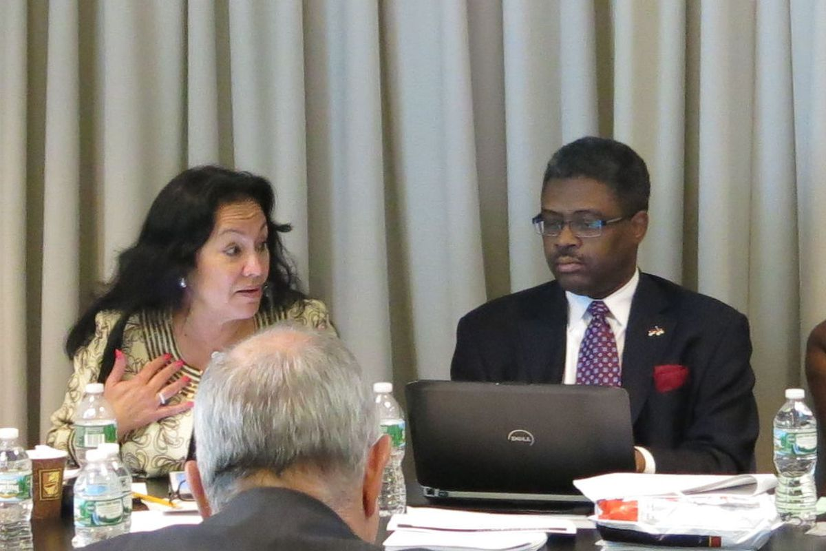 Betty Rosa discusses teacher evaluations during a Board of Regents meeting.