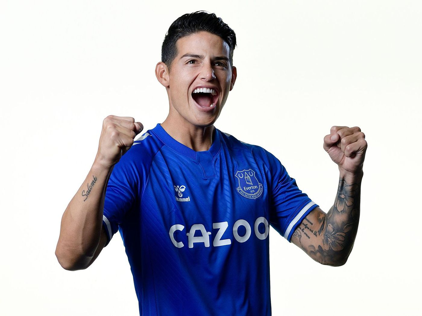 James Rodriguez Can T Wait To Get Started Playing For Everton Royal Blue Mersey