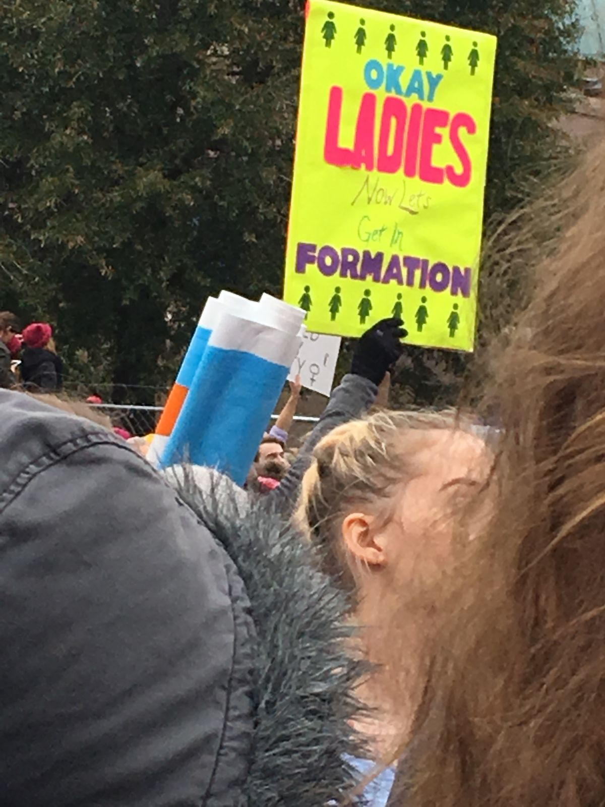 A sign at the Women's March on Washington.