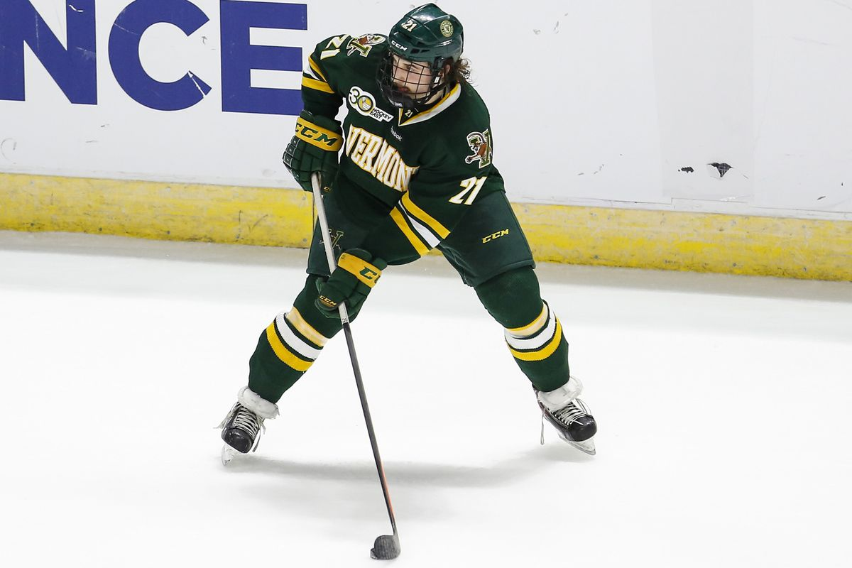 Vermont sophomore Mario Puskarich had the game-winning goal.