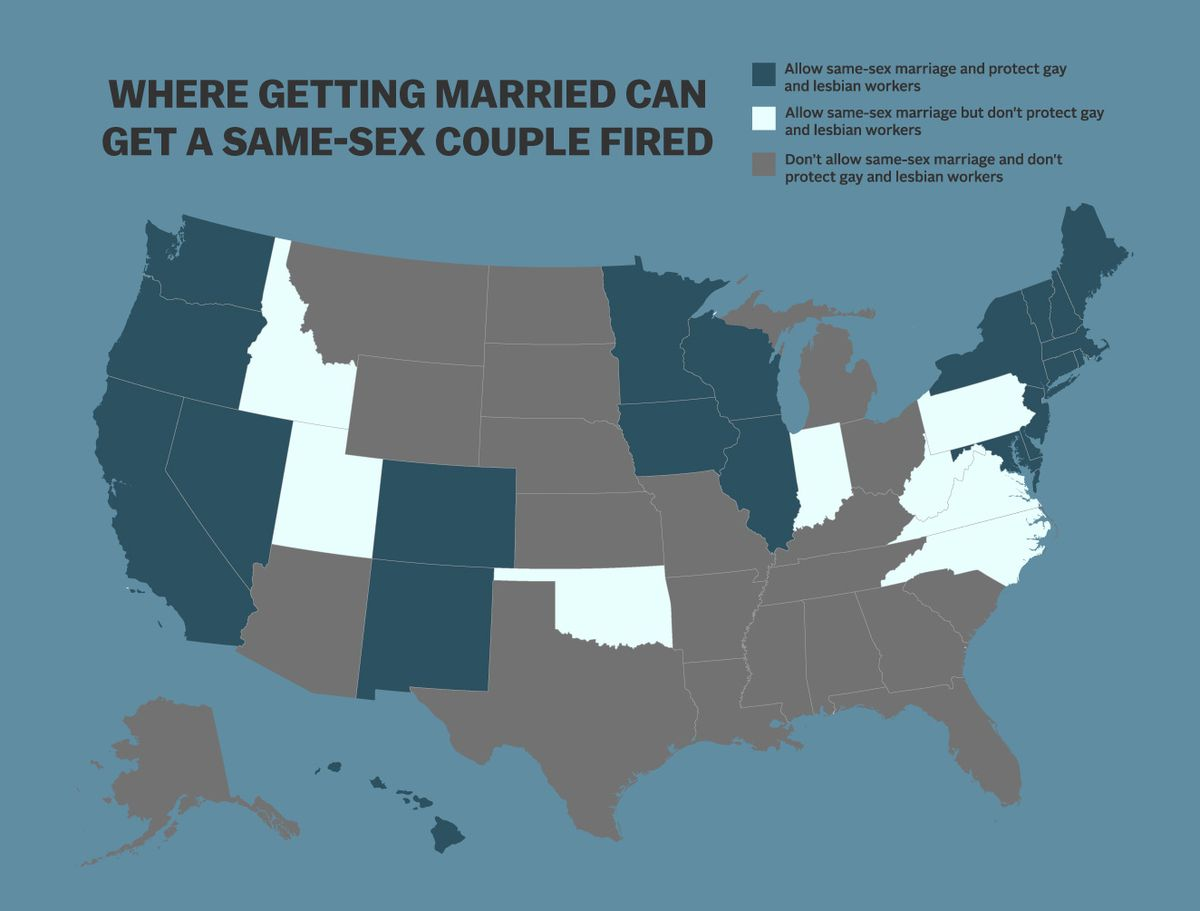 Map: Where getting married can get a same- couple fired - Vox on love wins map, numerology map, addiction map, metaphysical map, 9gag map, food issues map, inbreeding map, middle class map, sovereignty map, stages of life map, doctrine map, long trip map, birth control map, lawyers map, family interaction map, modernism map, heredity map, new moon map, life calling map,