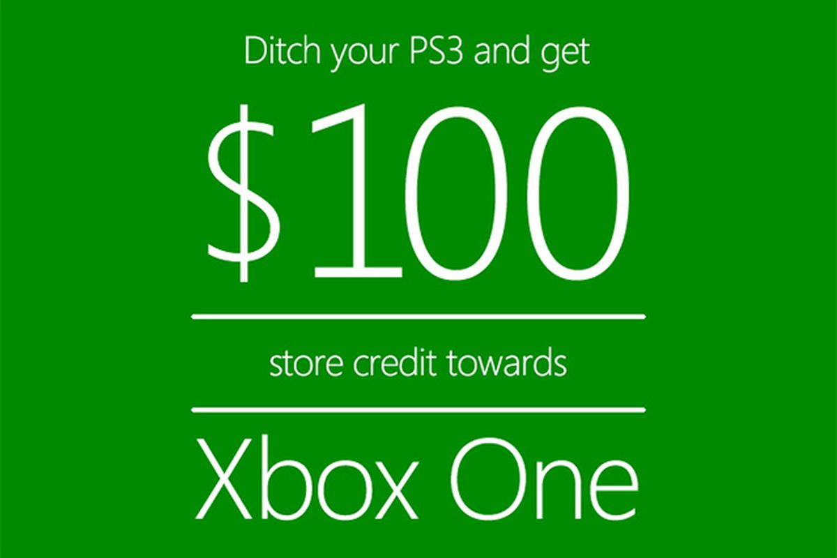 Microsoft offers $100 to 'ditch your PS3' for an Xbox One