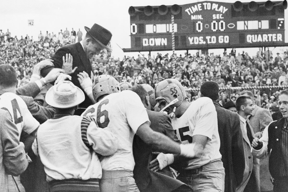 Looking back at 1957 Notre Dame vs. Oklahoma — ending the streak ...