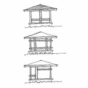 <p>A porch added to the front of the house, above, can be left half open and half screened, creating a more gracious entry.<br> A front porch also adds dimension to the long, flat facade of most ramblers. The frames for screened porches are typically custom-made, so the style can be linear and ordered or more playful.</p>