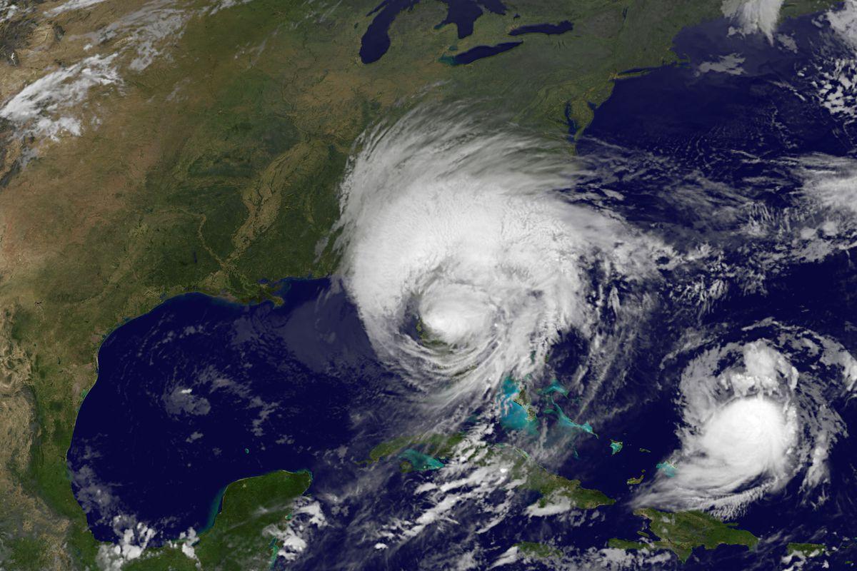 Satellite image of Hurricane Irma.