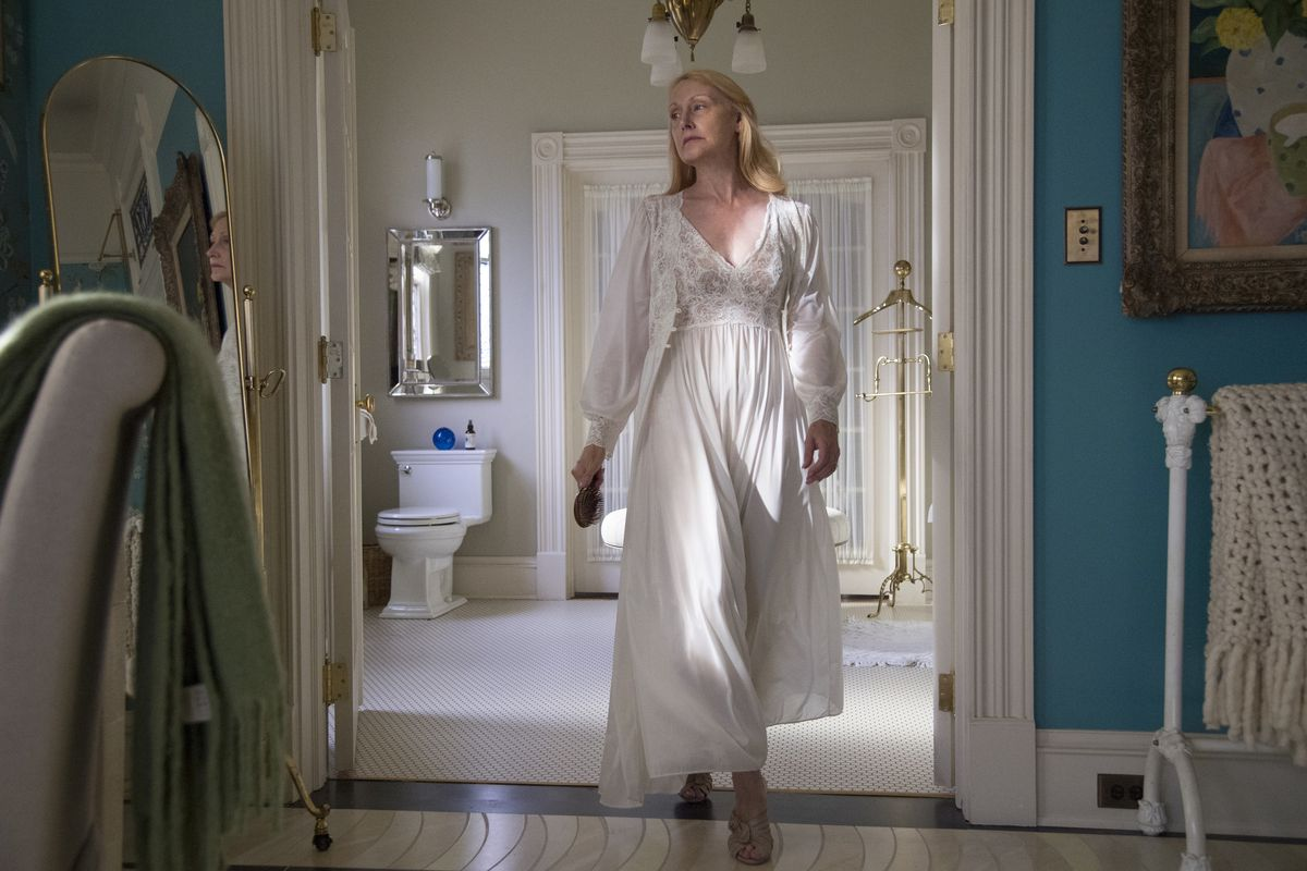 Patricia Clarkson plays Camille's estranged mother, queen of high society in her town.   HBO
