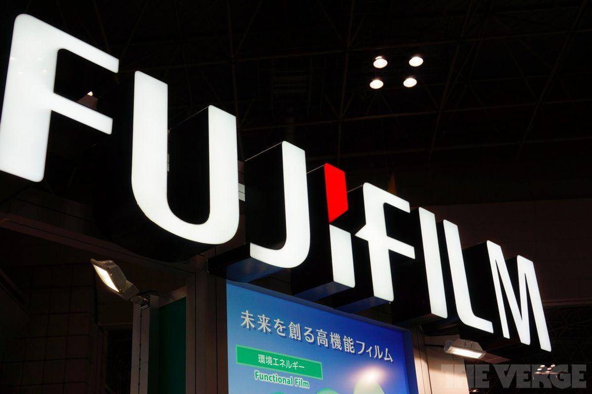 newest 790cb 3567d fujifilm logo stock