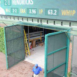 5:30 p.m. Gate Q in the right-field corner -