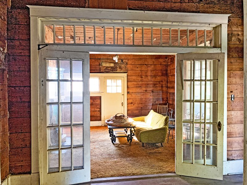 Save This Old House, Water Valley, MS, French doors into the living room, July/Aug 2020