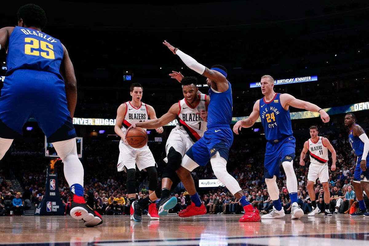 Image result for blazers vs nuggets usa today