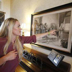 Heather Hansen talks about some artwork by her daughter, Kennedy, at her home in West Haven on Nov 20, 2016. Kennedy died in June 2014, and a book and a movie now tell her story.