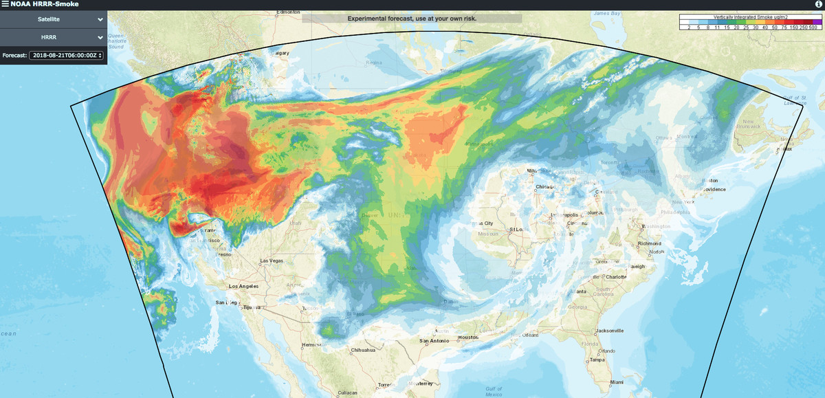 Fire Map Washington State 2017.Seattle S Air Quality Is As Bad As Smoking 7 Cigarettes Blame