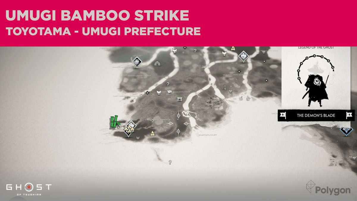 The Bamboo Strike location in Umugi in Ghost of Tsushima