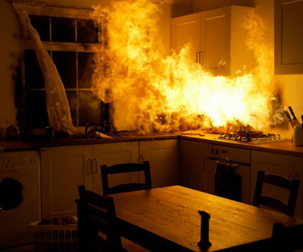 Fire Spreading To Kitchen Countertops