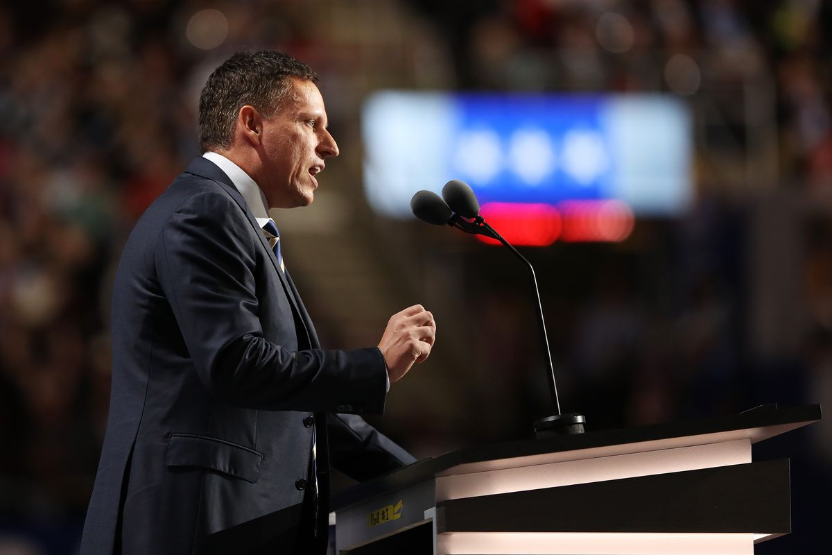 Peter Thiel speaking at the 2016 Republican National Convention