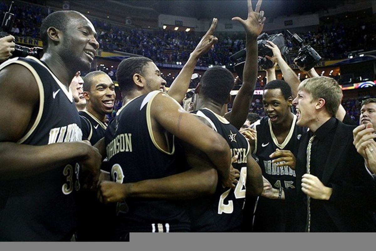 The celebration wasn't quite like this, but Vandy won, so use your imagination.