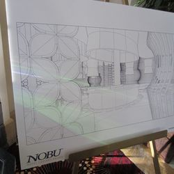 Sketches from the new Nobu Restaurant & Lounge.