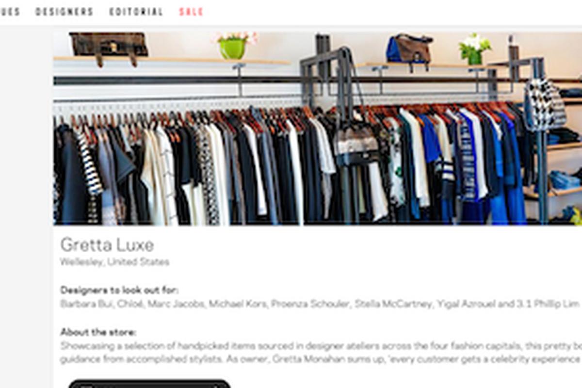 "Screenshot of <a href=""http://www.farfetch.com/shopping/gretta-luxe/women/items.aspx?ffref=btq_dir#ps=1&amp;pv=60&amp;oby=5"">Gretta Luxe Farfetch site</a>"