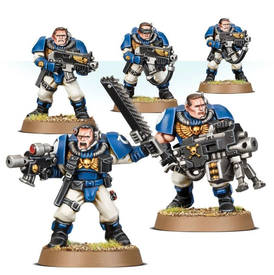 Space Marine Scout miniatures.