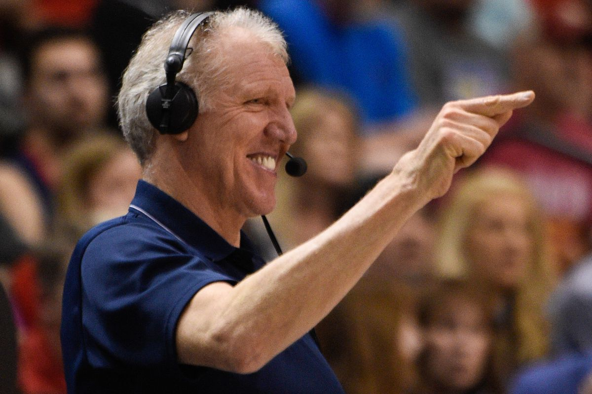 Imagine Bill Walton with that microphone and nothing to interrupt him.