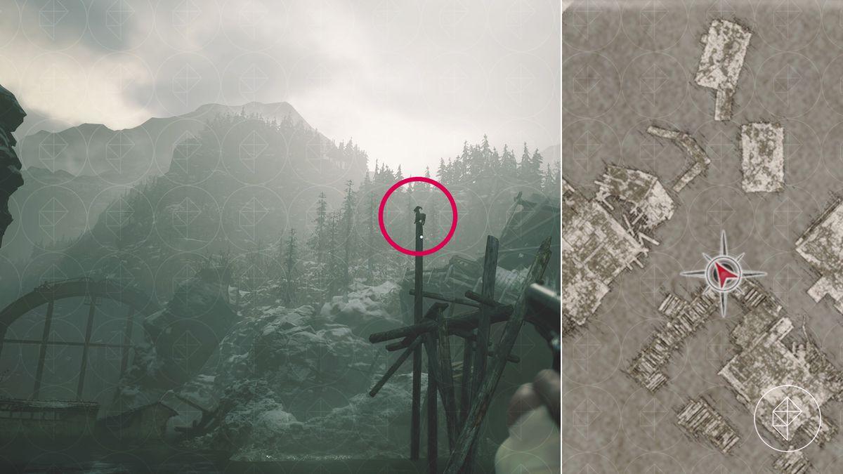 Resident Evil Village Goat of Warding collectible Reservoir bridge puzzle map location