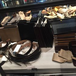 Belts, priced as marked; ties, $39.50, and small leather goods, $49.50