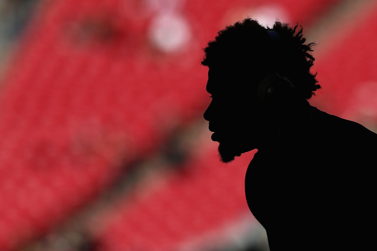 GLENDALE, AZ - Arizona Cardinals defensive back Tyrann Mathiu (32) warms up on the field during pregame sessions before playing against the New Orleans Saints at University of Phoenix Stadium.