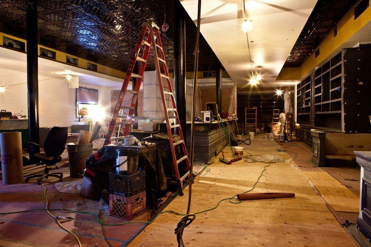 The Novela space, under construction.