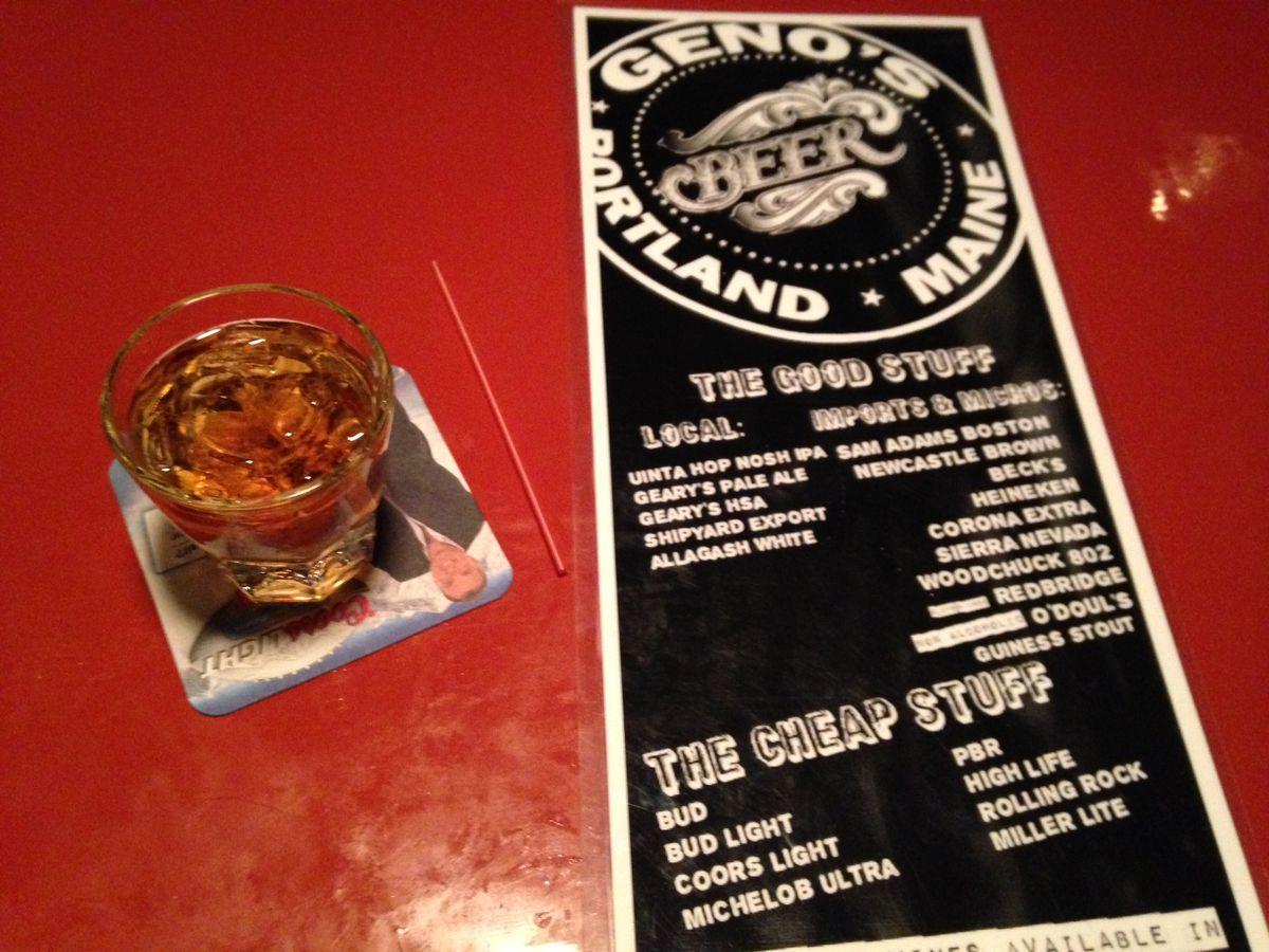 Geno's drink list