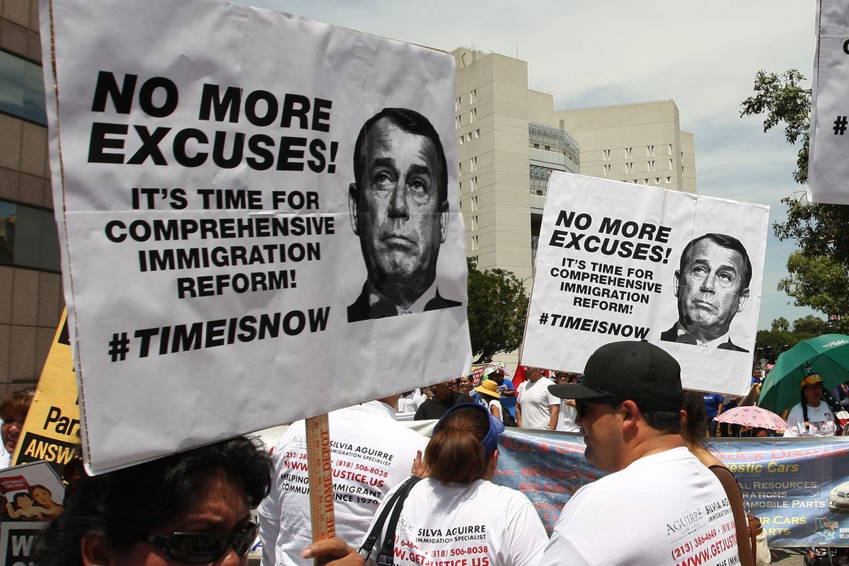 Protesters targeting Speaker John Boehner.