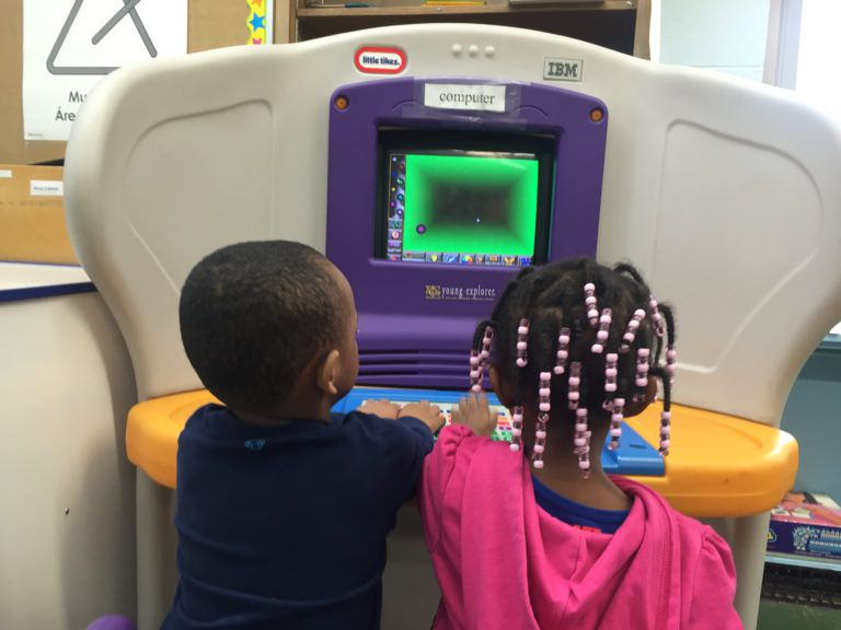 Schools like the Winston Development Centers Head Start offer bright, colorful classrooms and engaging activities that will give kids a leg up when they get to kindergarten. (Erin Einhorn/Chalkbeat)