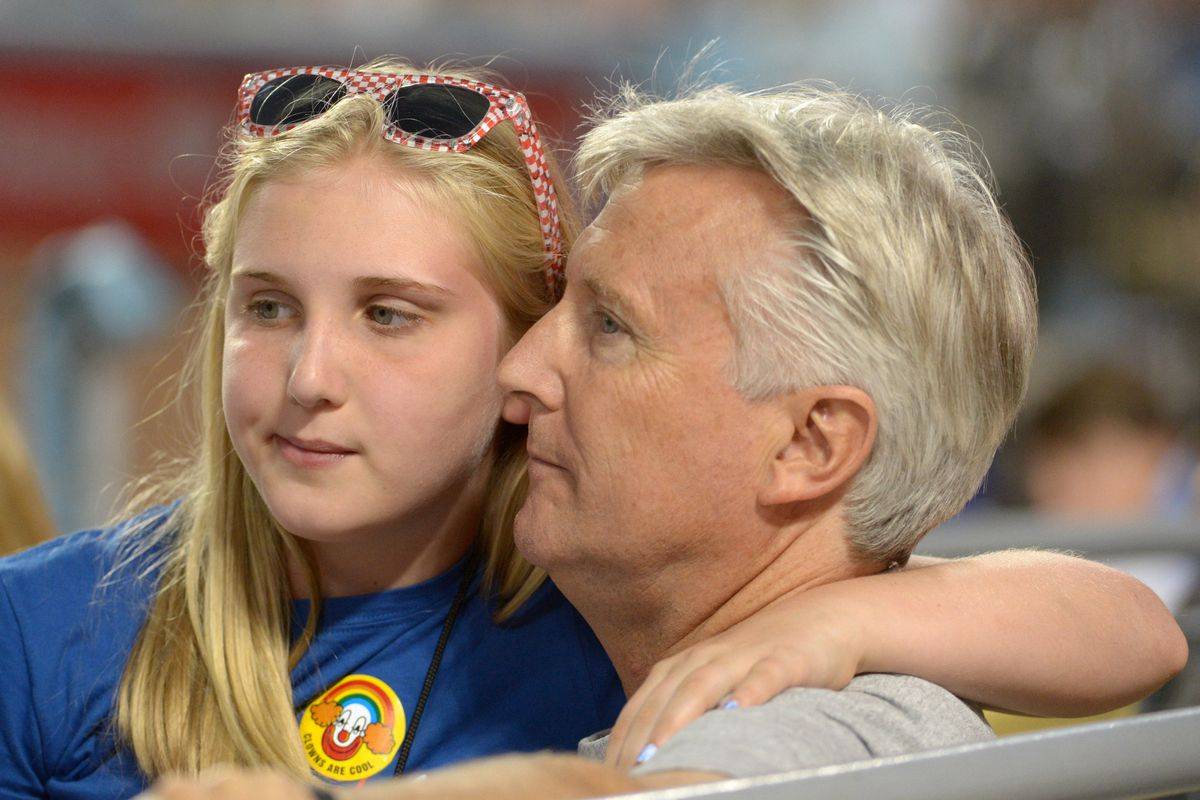Los Angeles Dodgers owner Mark Walter (with daughter Samantha) is hoping for a better return on his quarter-billion dollar investment tonight.