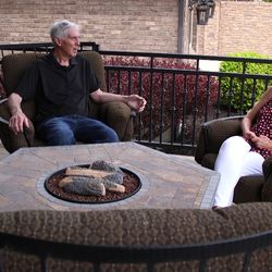 Jerry Sloan is shown with his wife Tammy at their home in Riverton. Sloan, who was inducted into the NBA Hall of Fame in 2009, was diagnosed in 2015 with Parkinson's disease and Lewy body dementia.