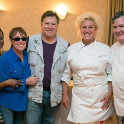 Anne Burrell hangs with Trotter