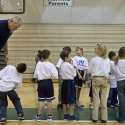 Former Jazz player Mark Eaton was on hand as part of the first-ever NBA FIT Week at Provo High School Saturday, Jan., 9, 2010.