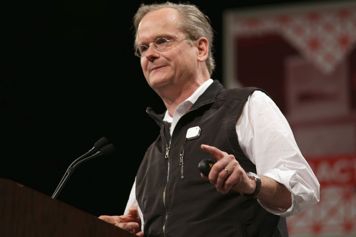 Lawrence Lessig speaks at South by Southwest earlier this year.
